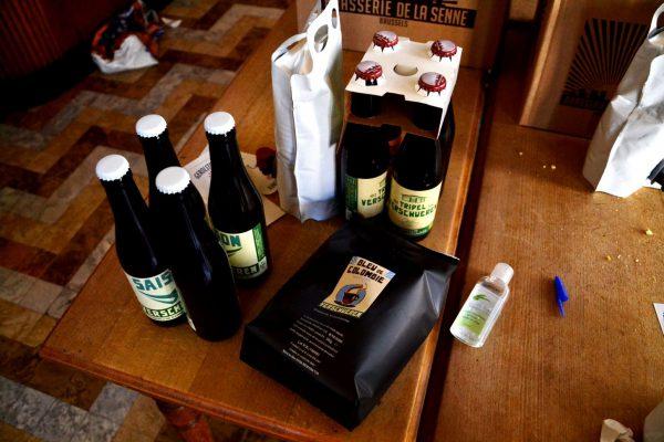 Les bières maisons de la brasserie Verschueren et du gel désinfectant