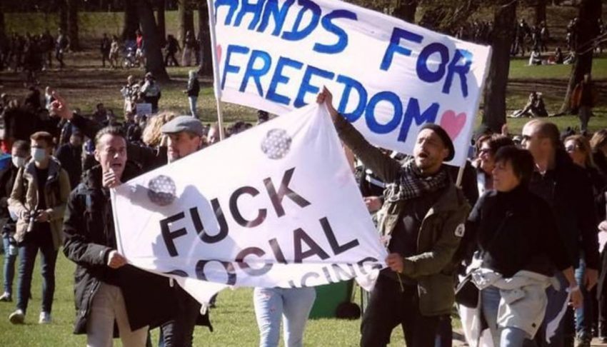 """Manifestation dans le Bois de la Cambre des """"Cycle for Freedom"""""""